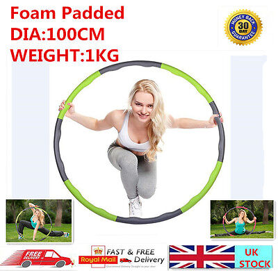 Professional Weighted Foam Padded Fitness Exercise Hula Hoop ABS Workout Hoop