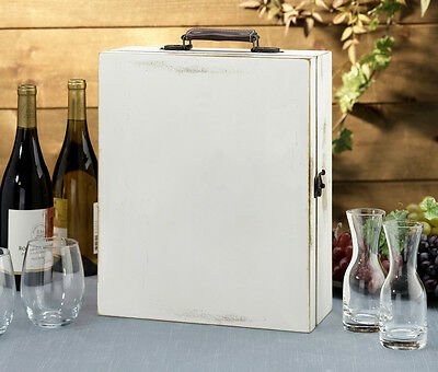 Lillian Rose Wedding Antique White Wine Box -Personalize 6 Styles! Special Price