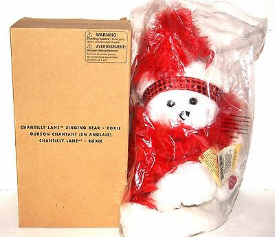 """Chantilly Lane """"Roxie"""" Bear with Red Boa Sings """"I Wanna Be Loved by You"""" Plush,"""