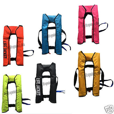 ADULT AUTOMATIC MANUAL INFLATABLE LIFE JACKET 150N SAILING BOATING 5 Colors