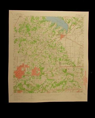 Grapevine Hurst Fort Worth Texas 1964 vintage USGS Topographical chart map