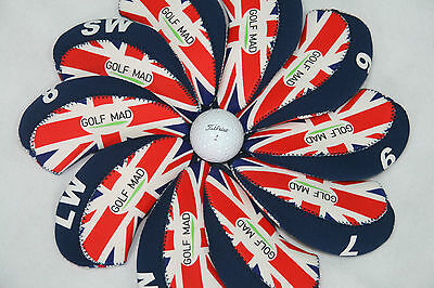 10 Golf Mad Iron Covers Golf Iron Headcovers for Ping Titleist Cobra ONLY 2017