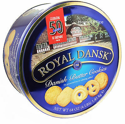 Tin Of Royal Dansk Danish Butter Biscuits 1.8Kg Lovely Cookies