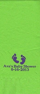 BABY FEET LOGO 50 Personalized printed DINNER HAND TOWEL FOLD napkins
