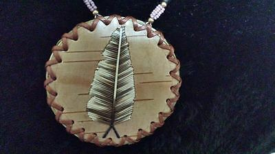 Native Beaded/quill Medallion Necklace