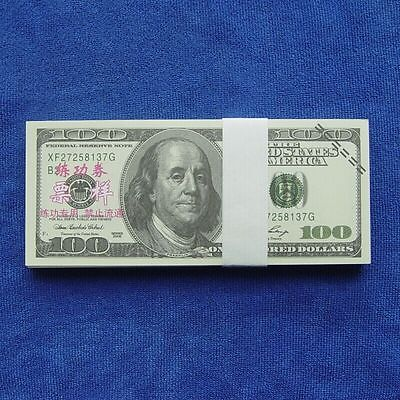 100 Dollars Paper Money USA New 100pcs Training Collect Learning Banknotes