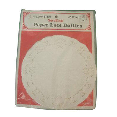 "4"" white paper lace doilies disposable 52 pcs per pack"