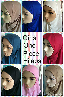 New Girls One Piece  All In One Hijab Easy Wear For School And Mosque M/l