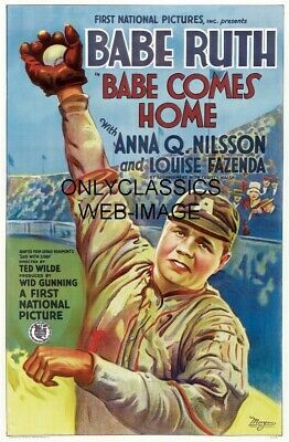 1927 Vintage New York Yankees Babe Ruth Comes Home Baseball Movie 11X17 Poster