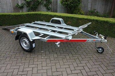 3 x Motorcycle Motorbike Trailer Tema Moto3 - Three x Channel with Ramp 750kg