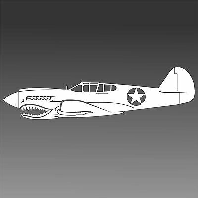 P40E Warhawk AVG Flying Tigers Army Air Corps Star Aviation Sticker Pilot Decal