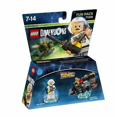LEGO Dimensions Back to the Future Doc Brown Fun Pack Brand New Sealed