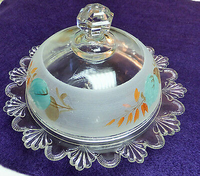 Art Deco, Butter, or Cheese dish, 1930's-1940's Stunning and Unique!