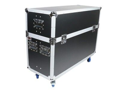 "OSP ATA FLIGHT ROAD TOUR CASE for TWO 55"" LED TV TELEVISION SCREENS MONITORS"