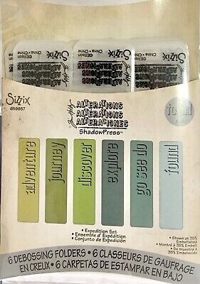 Tim Holtz Alterations Texture Fades Embossing Folder ~Expedition Set
