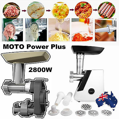 2800W Meat Grinder Electric Mincer Sausage Maker Kibbe Stainless Steel Au