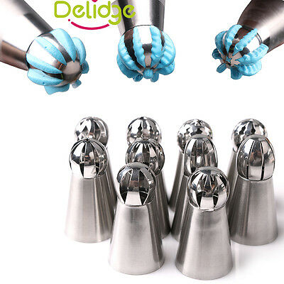 Torch Sphere Ball Russian Icing Piping Nozzles Pastry Tips Cake Cupcake Decor
