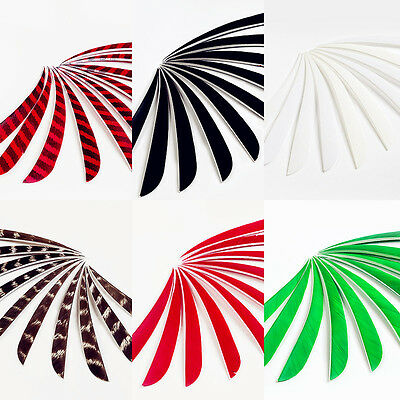 50 pcs 5'' Real Left Wing Parabolic Turkey Feather For Archery Arrow Feather