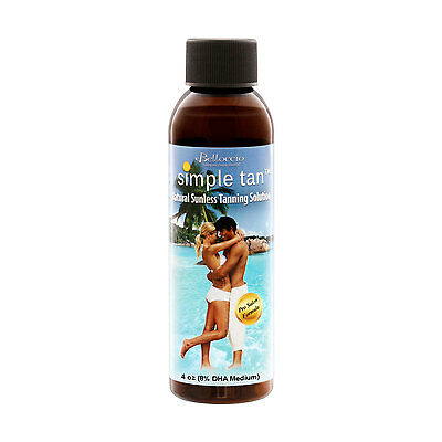 4 oz Belloccio Simple Tan 8% DHA Medium Sunless Airbrush Spray Solution Tanning