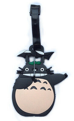 TOTORO Rubber Luggage Handbag School Bag Name Card ID Address Holder Tag