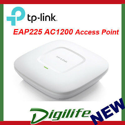 TP-Link EAP225 AC1200 Wireless Dual Band Gigabit Ceiling Mount Access Point PoE