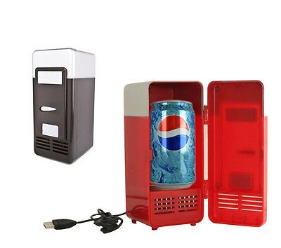 2016Mini Fridge Beverage Drink Cans Cooler/Warmer Refrigerator Laptop PC USB New