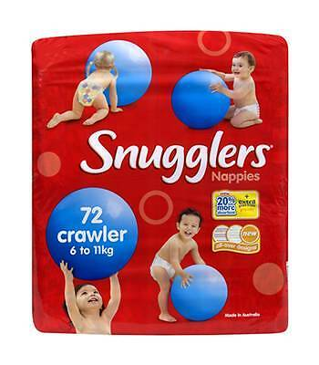 1 x Pack of 72 Snugglers Nappies Crawler Size 6-11kg