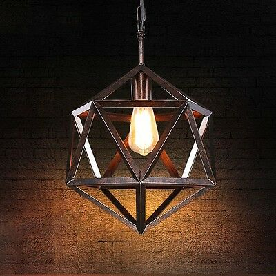 Industrial Rustic Style Suspension Pendant Light Vintage Barn Ceiling Lighting