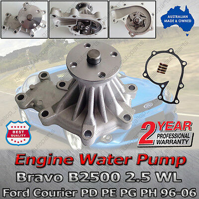 Engine Water Pump Ford Courier PD PE PG PH Mazda Bravo B2500 Diesel+Gasket 96-06