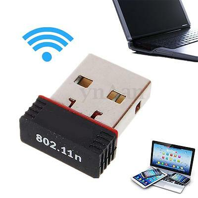 Mini 150Mbps Wireless USB WiFi Network LAN Card Dongle Adapter 802.11n for Win10