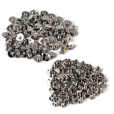 100 Solid Binding Screw Stud Button Nail Rivets Leather Craft Belt Bag Wallet