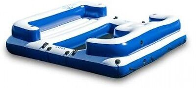 Giant Floating Island 5 Person Lounger Inflatable Beach River Raft