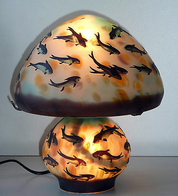 THE BLUE FISH    lamp - glass style Galle GL 10-62