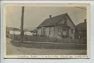 1916-1917 era Slades Residence SeattleWashington Real Photo Postcard RPPC