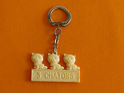 Porte-Cles 1960-1970 Gateaux Barquettes 3 Chatons Biscuits Biscuiterie