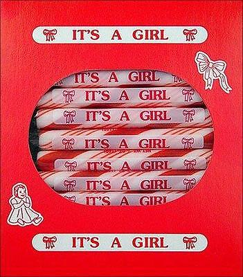 Baby Girl Birth Announcement Candy : It's A Girl Peppermint Candy Sticks 24 Ct
