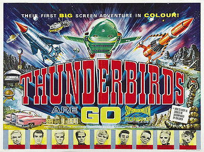 Home Wall Art Print - Vintage Movie Film Poster - THUNDERBIRDS - A4,A3,A2,A1