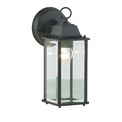 Traditional 1 Light Bevelled Outdoor Wall Lantern Modern Garden Light Litecraft