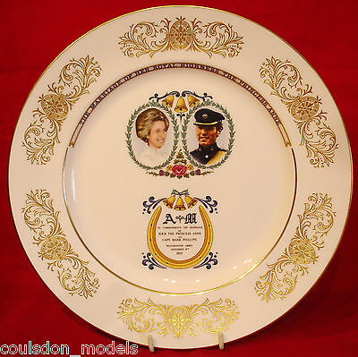 Aynsley Plate Commemorating The Marriage Between Princess Anne & Mark Phillips