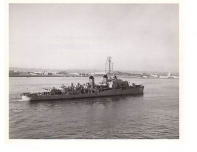 USS Blue DD744 Destroyer Navy Ship Official Photograph 8x10 BW