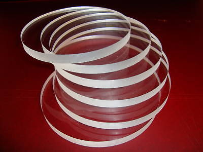 Clear Cast Acrylic Discs / Circles - CNC machined, Coasters, Cake base, planters