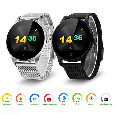 K88H Smart Watch  Bluetooth Heart Rate Pedometer For iOS Android Samsung Iphone