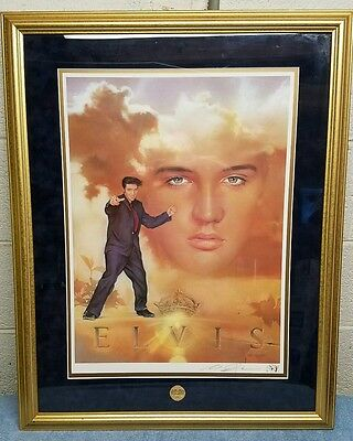 1993 Elvis Presley Lithograph - Signed  by Nate Giorgio - Franklin Mint