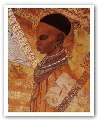"""African American Black Art Print """"MUSE"""" by Dexter Griffin"""