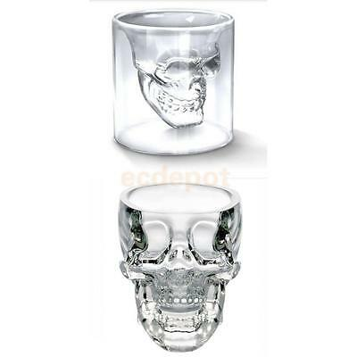 2 Kinds 73ml Crystal Skull Head Vodka Whiskey Wine Glass Cup Home Bar Drinking