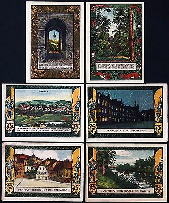 """KAHLA 1921 """"City and Country Views"""" complete series Notgeld Germany"""