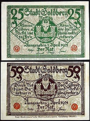 GOLDBERG 1921 complete set circulating German Notgeld