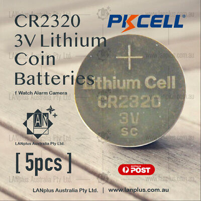5 x CR2320 3V Lithium Battery STOCK IN Melbourne Button Coin Cell CR-2320