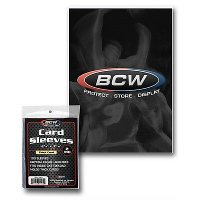 20,000 (2 Cases) Bcw Thick Baseball Trading Card Soft Penny Sleeves