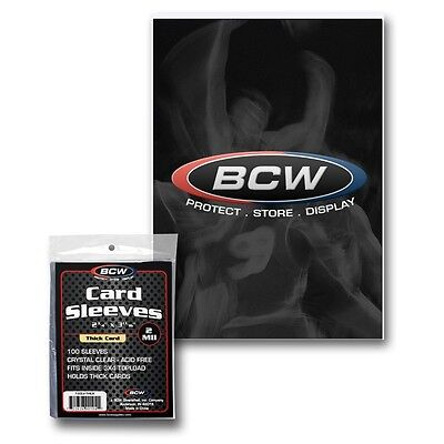 10,000 (1 Case) Bcw Thick Baseball Trading Card Soft Penny Sleeves